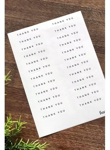 Funbou Sticker, Thank You / 10 Sayfa Beyaz